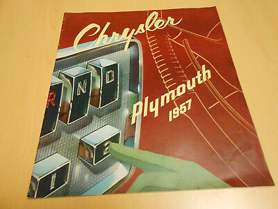 prospectus  / document publicitaire CHRYSLER / PLYMOUTH 1957 en français