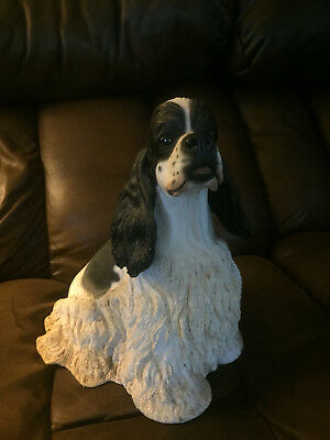 Top Dogs Black and Beige Cocker Spaniel Statue