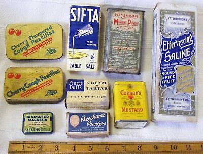 Job Lot of Household / Chemist Tins / Packets / Boxes
