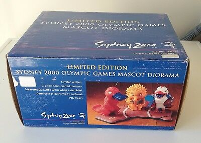 RARE Sydney 2000 Olympic Games Limited Edition Mascot Diorama #2033 of 2500 BNIB