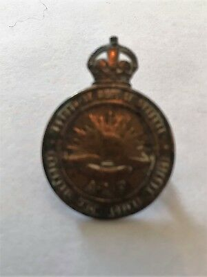 WW1 Returned from Active Service Badge Named To 3473 F. C. Brooking