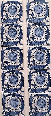 Arts And Crafts William Morris Sunflower Tile Kelmscott Manor Fireplace Tiles
