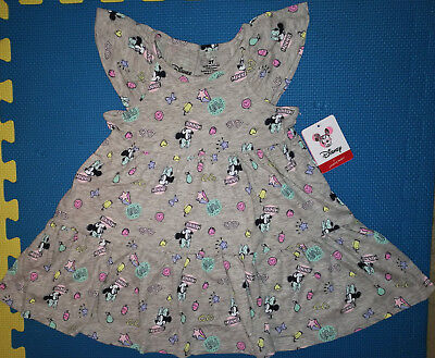 @*disney Minnie Mouse Graphic Print Tiered Dress*@nwt! 2T 3T 4T 5T