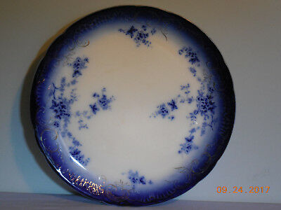 """Labelle Flow Blue 12 7/8"""" Charger Plate By Wheeling Pottery"""