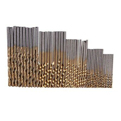 50Pcs 1/1.5/2.0/2.5/3mm Titanium Coated HSS Drill Bit Set I6O9 U8W7
