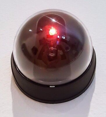 Black Shell Battery Operated Dummy Dome Surveillance Security Camera