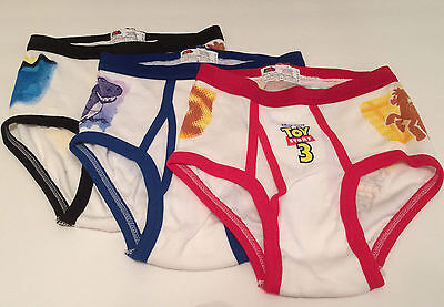 Disney Toy Story 3 Fruit Of The Loom Briefs Boys 3 Pack Size 6 Woody