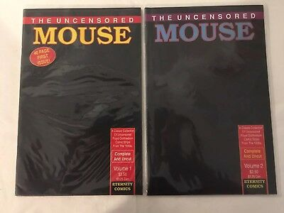 Uncensored Mouse Comic # 1 & 2 - New Unopened - Complete Uncut - Mickey Disney