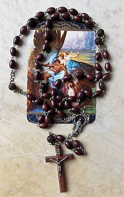 Vintage Wooden Rosary Beads