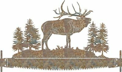 DXF CNC dxf for Plasma Router Vector Elk Whipsaw Pines Man Cave Home  Plasmacam