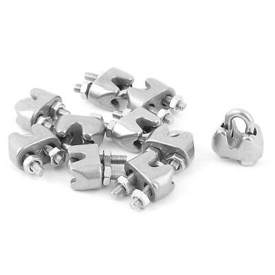10pcs 2mm 1/16 Inch Stainless Steel Wire Rope Cable Clamp Fastener C6N8 F3C2