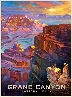 "Grand Canyon USA Vintage Art Poster Travel Photo Fridge Magnet 2""x3"" Collectible"