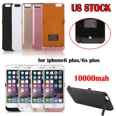 10000mah External Rechargeable Battery Cover Case for iphone6 plus/6s plus 5.5''