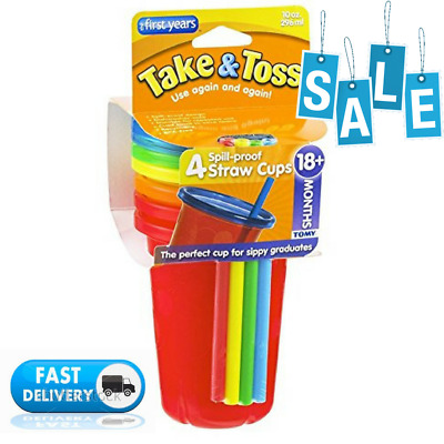 The First Years Take Toss Spill-Proof Straw Cups - 10Oz, 4 Pack
