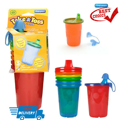 The First Years Take Toss Spill-Proof Sippy Cups, 10 Ounce 4 Count Fast Shipping