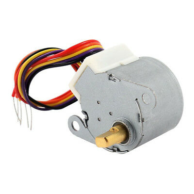 DC 12V CNC Reducing Stepping Stepper Motor 0.6A 10oz.in 24BYJ48 Silver F1F1 W6O8