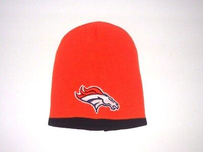 46279fd9191 Denver Broncos Winter Short Beanie Skull Cap Orange Black Hat New Great  Look!
