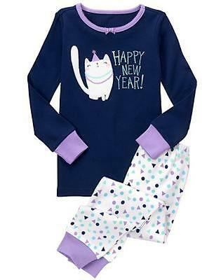 NWT Gymboree Girls Gymmies Happy New Year Kitty pajama set many sizes