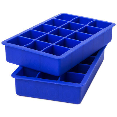 NEW Tovolo Perfect Cube Ice Tray Set of 2 Blue