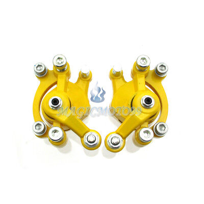Yellow Left + Right Disc Brake Calipers For Mini Dirt Bike ATV Goped Scooter