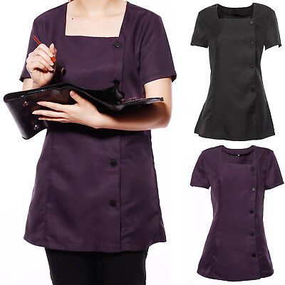 Healthcare Nurses Beautician Tunics Salon Carers Medical Work Uniforms Top