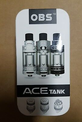 OBS ACE Tank Schwarz RTA SELBSTWICKEL+Coil VERDAMPFER Rebuildable Tank Atomizer
