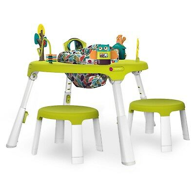 Oribel PortaPlay Forest Friends 4-in-1 Foldable Activity Center with Stools