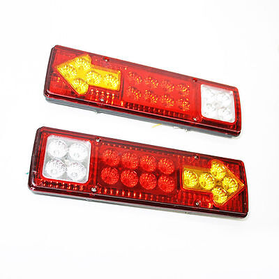 12v Led Rear Tail Lights For Transporter Truck Lorry Trailer Tipper Chassis Bus