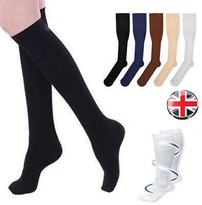 Flight Travel Socks Unisex Compression Anti Swelling DVT Support Men Women Soft