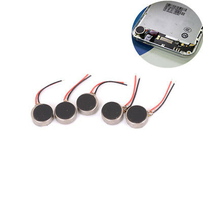 5X Mini DC3V Pager Handy Mobile Coin Flach Vibrierende Vibration Micro Motor FL