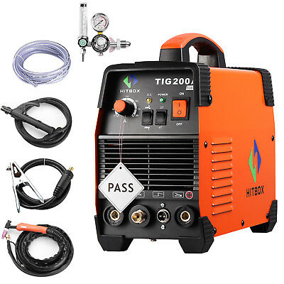 TIG welder 220V HITBOX 200A IGBT inverter welding macine unit & argon regulator
