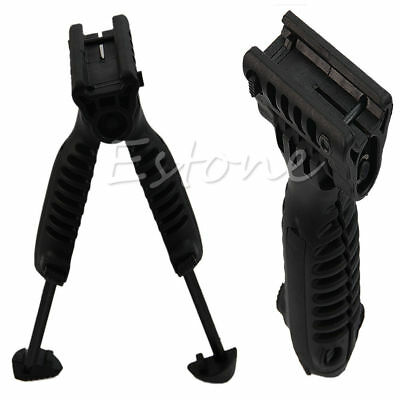 Foldable Tactical Swivel Hunting Bipod Foregrip 20mm Picatinny Rail For Rifle