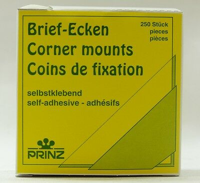 Prinz clear self adhesive corner mounts pack of 250 (22mm corner mount)