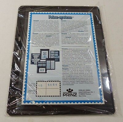 Prinz System double sided Universal punching stock pages per 10 choice of strips