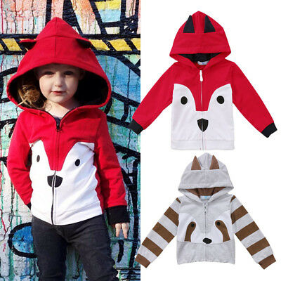 Lovely Toddler Baby Kids Boys Girls Warm Winter Jacket Hoodies Outwear Clothes
