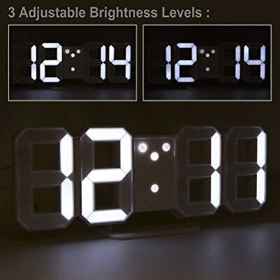 LED Digital 3D Clock with Night Mode Wall Glowing Hanging Electronic Clock Alarm