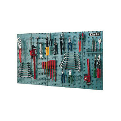 CLARKE GARAGE STEEL TOOL RACK WALL MOUNTED 1130mm x14mm x 630mm CWR45
