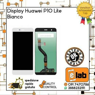 Touch Screen + Lcd Display Per Huawei P10 Lite Bianco Schermo Vetro Was-Lx1A Lx1