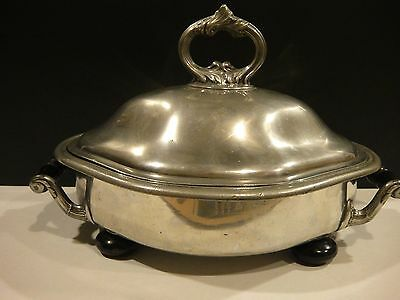Rare Antique Benham Silver Plate Serving Dish - 4 Pieces From London Circa 1890S