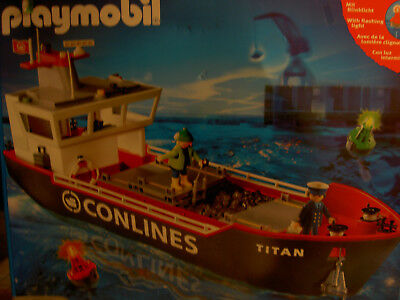 Playmobil Containerschiff Conlines Schiff 4472