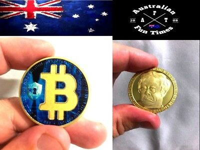 Gold Plated Bitcoin Coin collectible gift Physical BTC Coin Art Collection hwc S