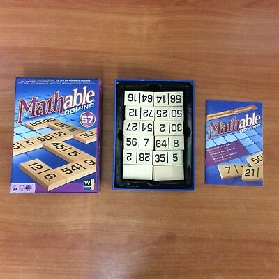 2013 Board Game - Mathable Domino  - 100% Complete