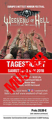 Ltd. Hardcover Ticket - Weekend Of Hell, Samstag 3. November 2018