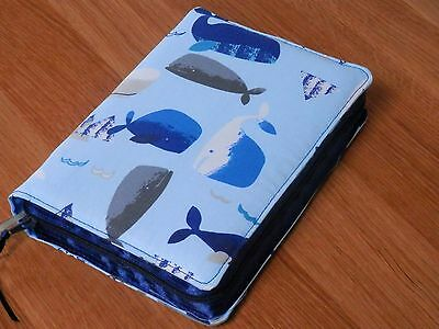 New World Translation 2013 Zipped Fabric Bible Cover - Whales