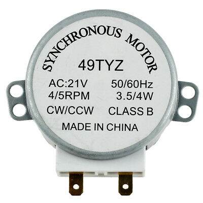 Microwave Oven Turntable Synchronous Motor 3W 5/6RPM AC 21V 50/60Hz A8M3 P0W0