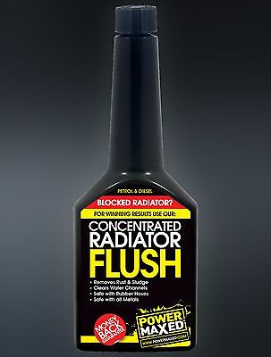 Power Maxed Concentrated Radiator Flush Treatment Petrol & Diesel. 325ml