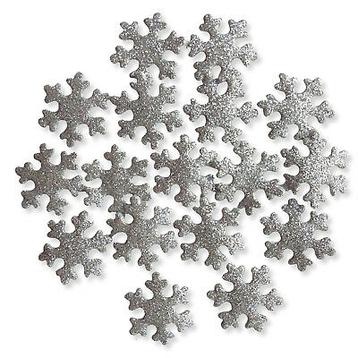 Winter Glitter Snowflakes Christmas Craft Scrapbooking Cardmaking Embellishments