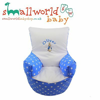 Personalised Blue Star Peter Rabbit Bean Bag Chair (NEXT DAY DISPATCH)