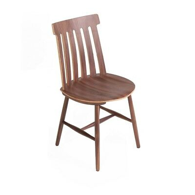 Spindle Back Dining Side Chair in Walnut