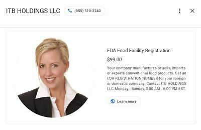 FDA REGISTRATION | Food, Dietary Supplements Companies | Only 99 USD